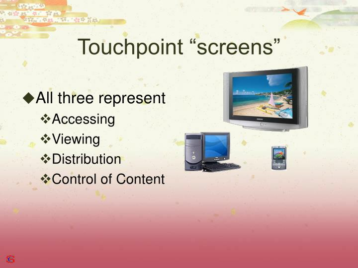 "Touchpoint ""screens"""
