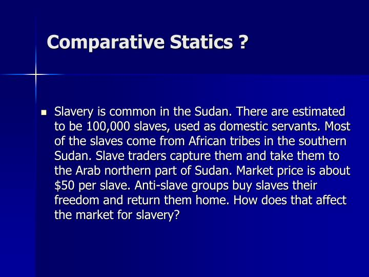 Comparative Statics ?