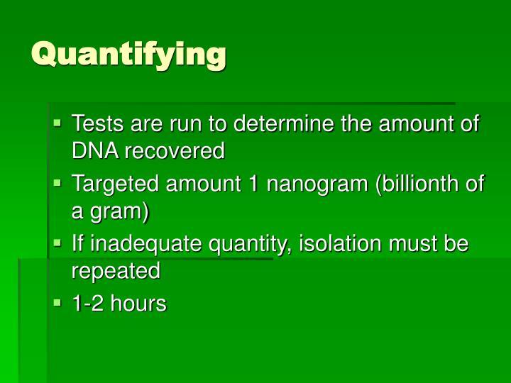 Quantifying