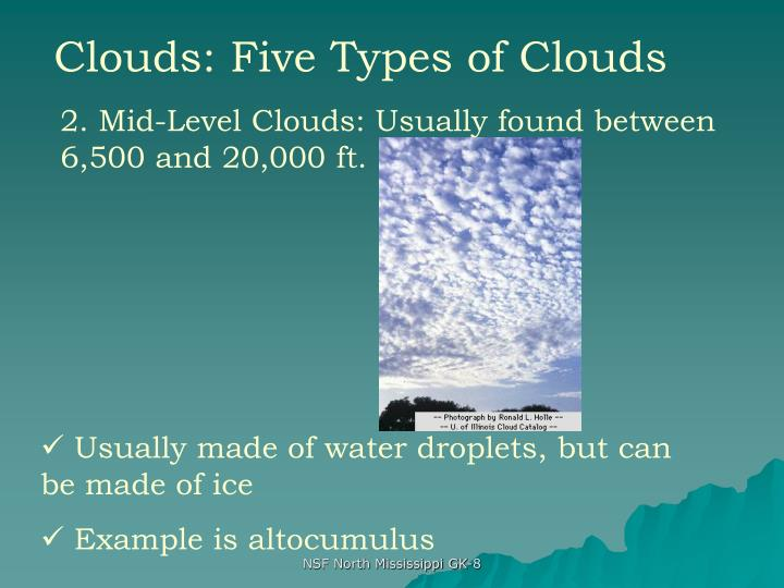Clouds: Five Types of Clouds