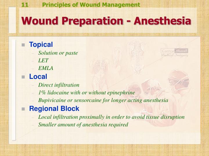 Wound Preparation - Anesthesia