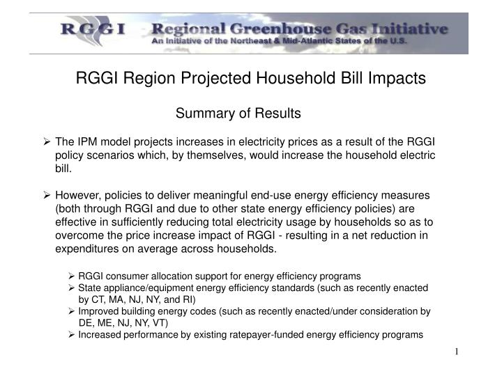 rggi region projected household bill impacts n.