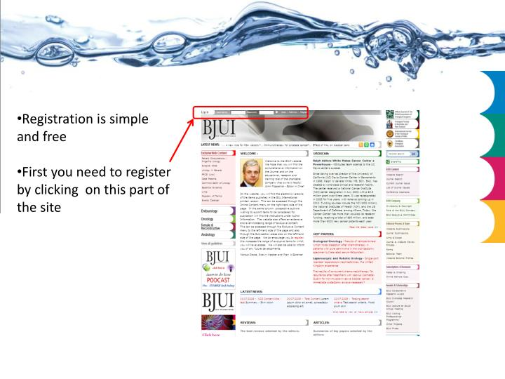 Registration is simple and free