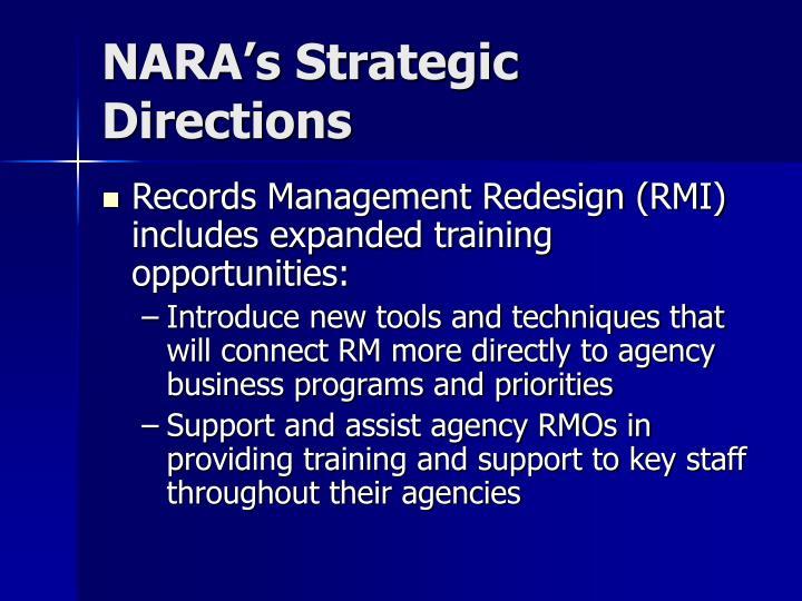 Nara s strategic directions