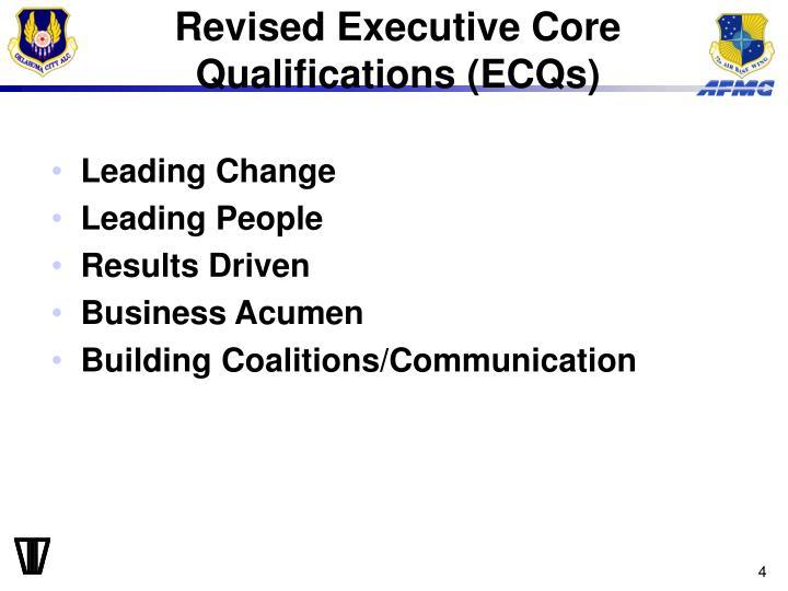 Revised Executive Core Qualifications (ECQs)