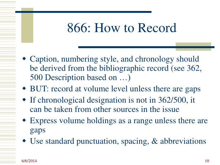 866: How to Record