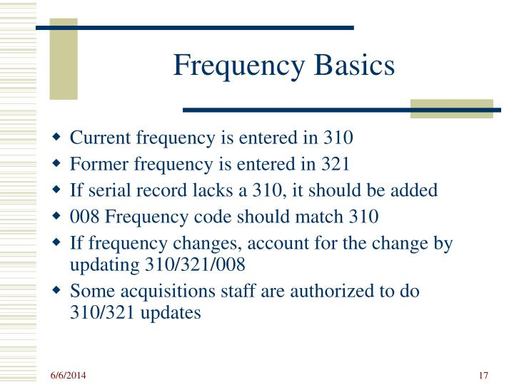 Frequency Basics