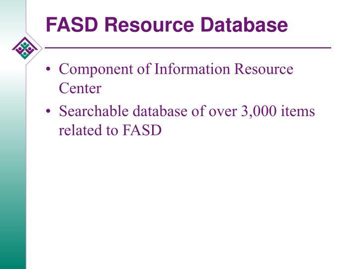 FASD Resource Database