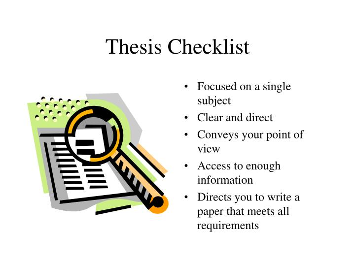 Thesis Checklist