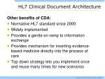 hl7 clinical document architecture1