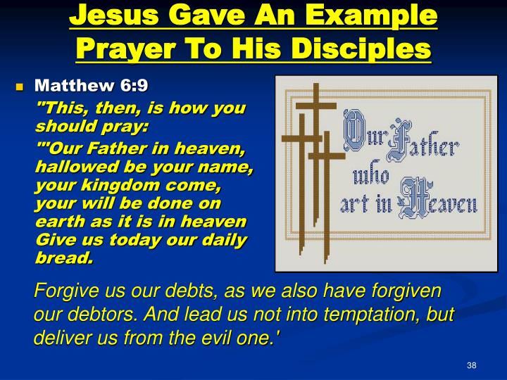 Jesus Gave An Example Prayer To His Disciples