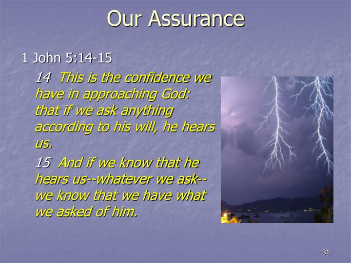 Our Assurance