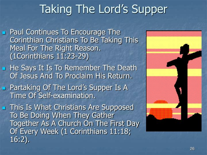 Taking The Lord's Supper