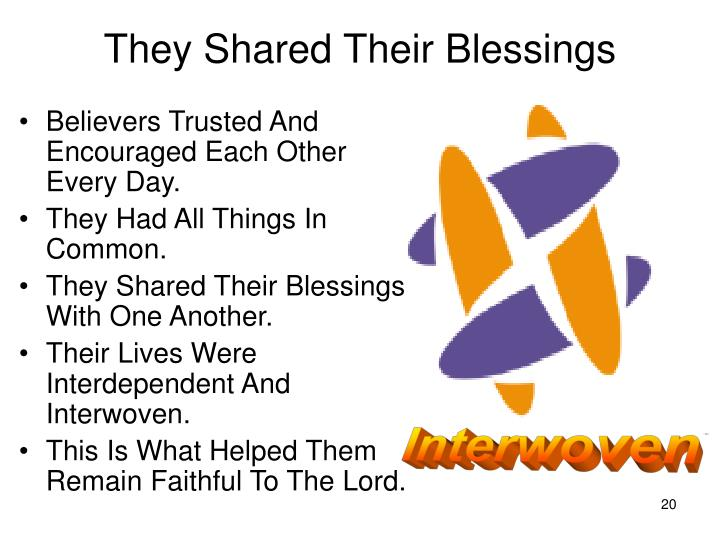 They Shared Their Blessings