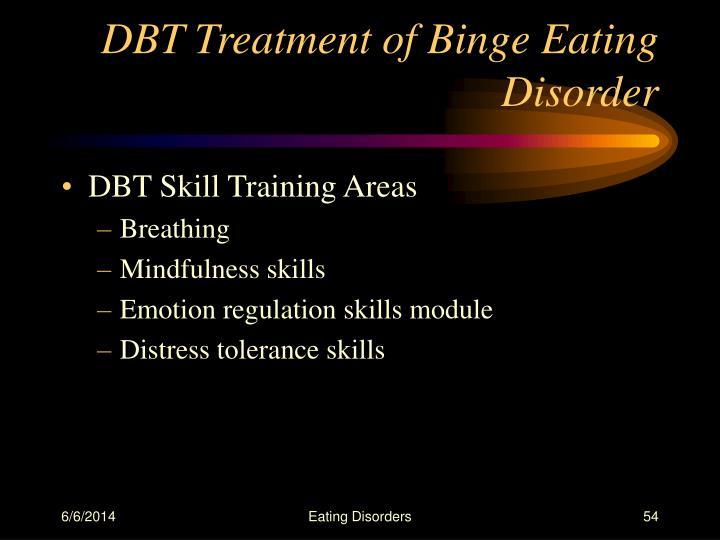 DBT Treatment of Binge Eating Disorder