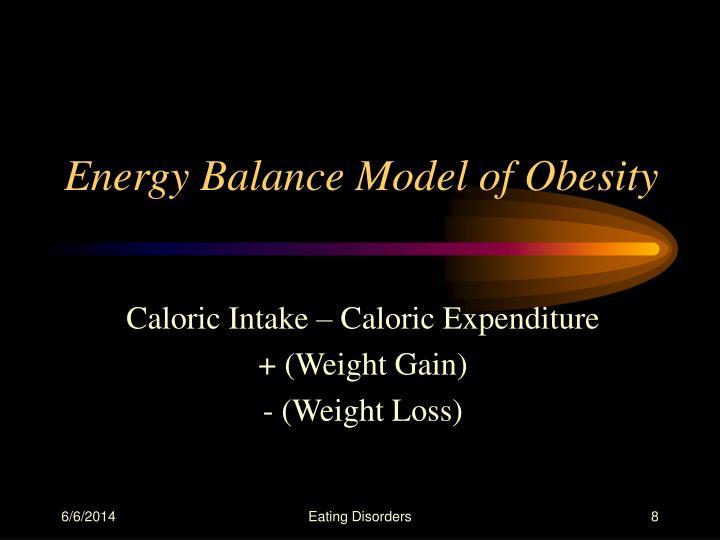 Energy Balance Model of Obesity