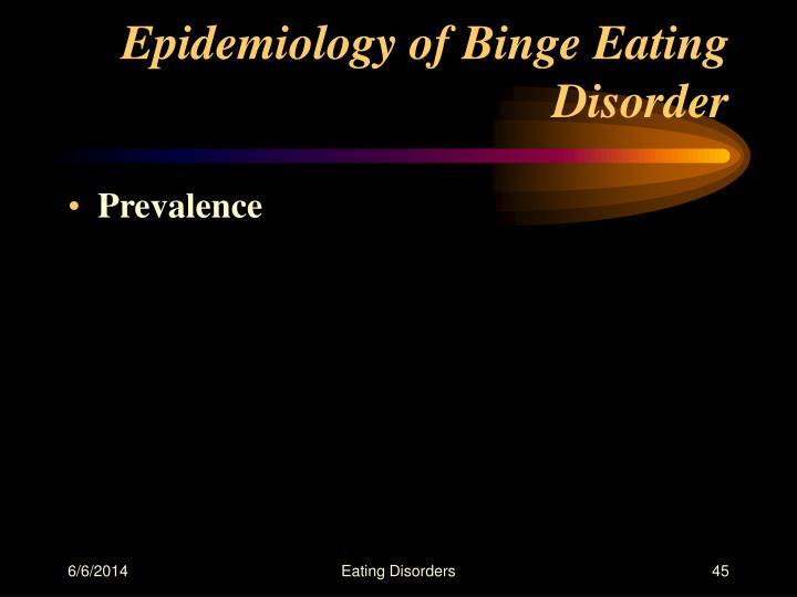 Epidemiology of Binge Eating Disorder