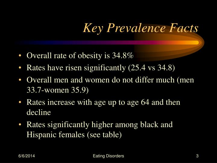 Key prevalence facts
