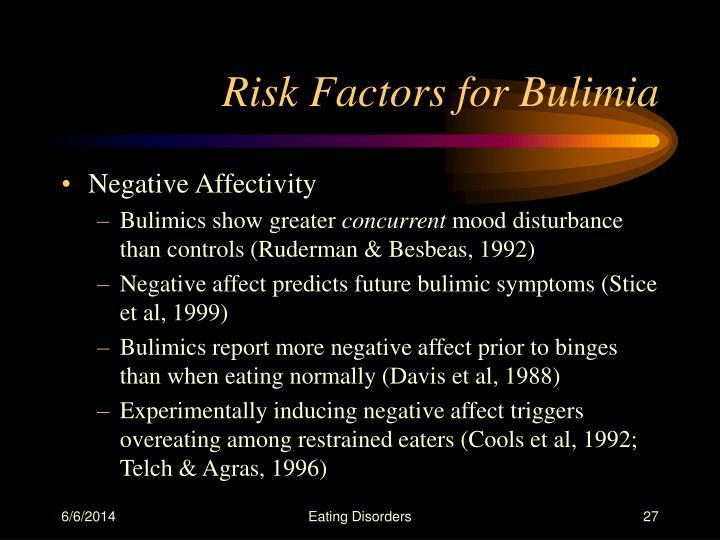 Risk Factors for Bulimia