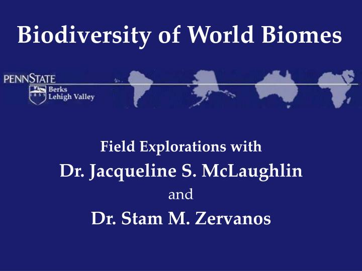 biodiversity of world biomes n.
