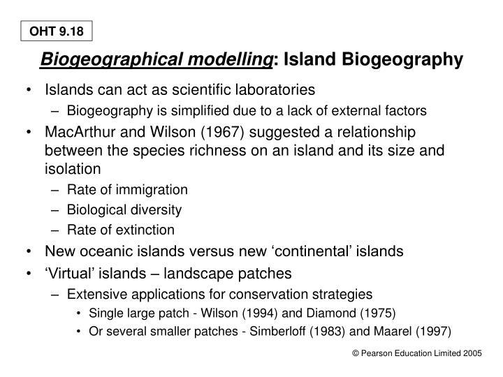 Biogeographical modelling