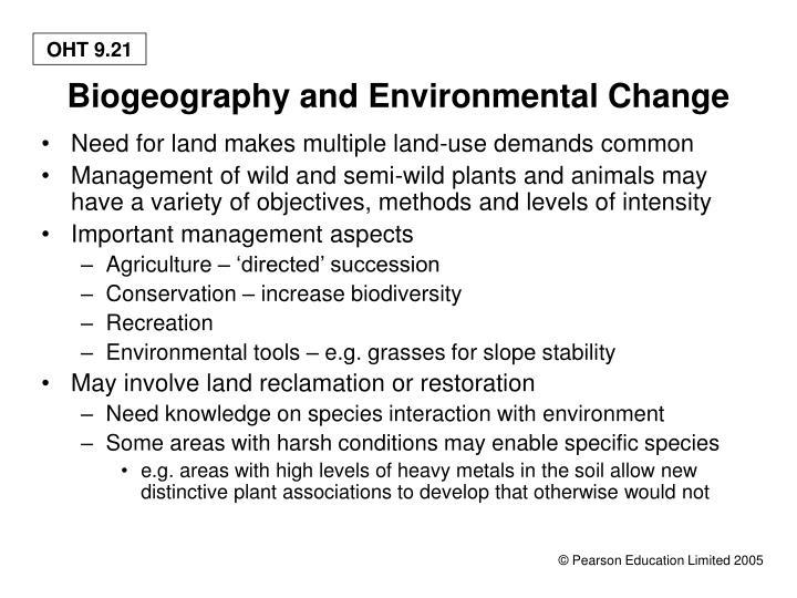Biogeography and Environmental Change