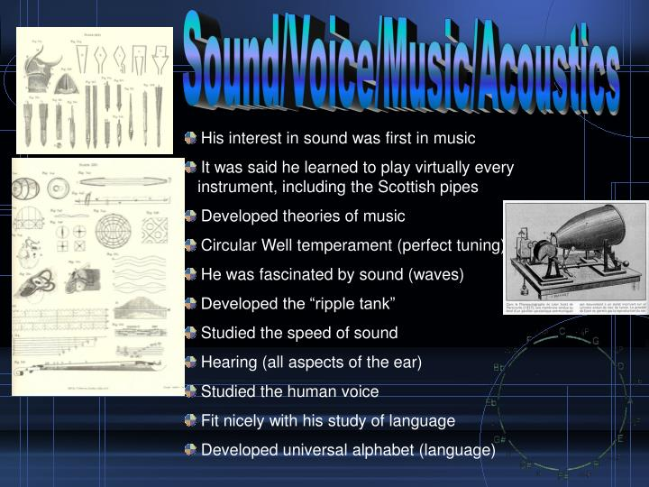 Sound/Voice/Music/Acoustics