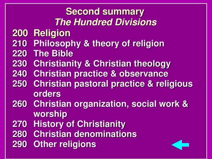 Second summary