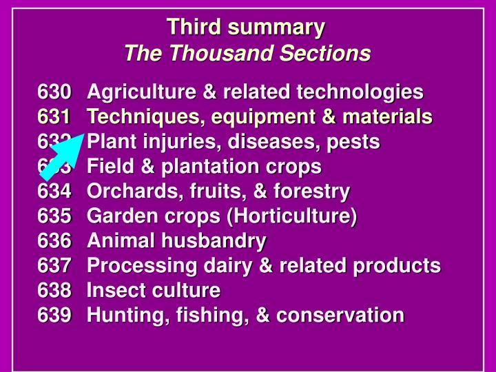 Third summary