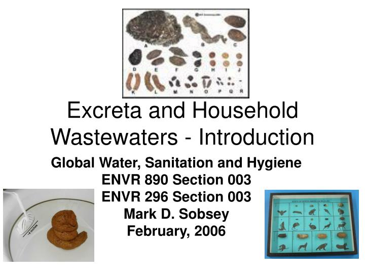 excreta and household wastewaters introduction n.