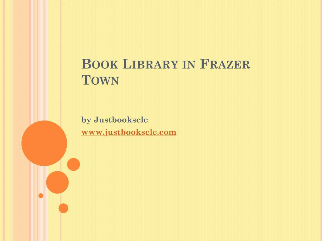 book library in frazer town l.