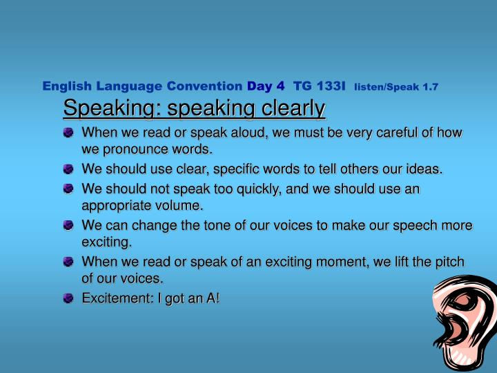 English Language Convention