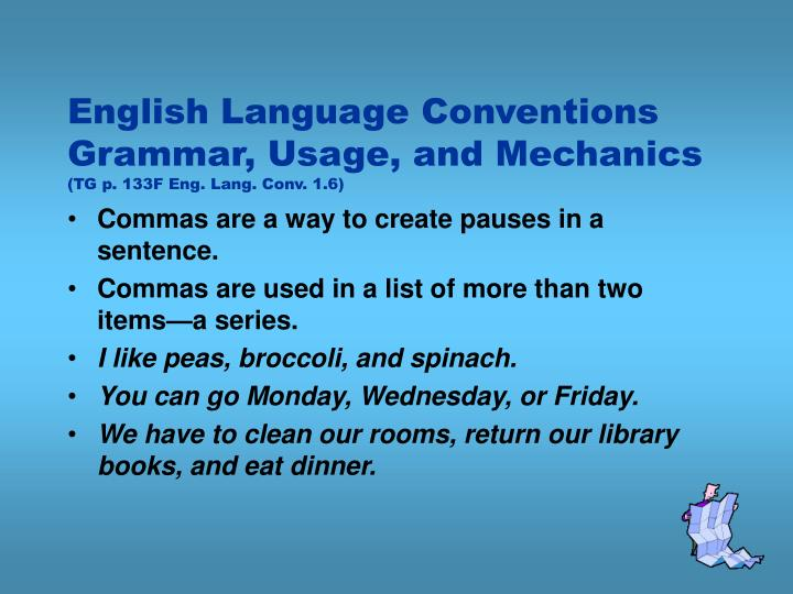 English Language Conventions