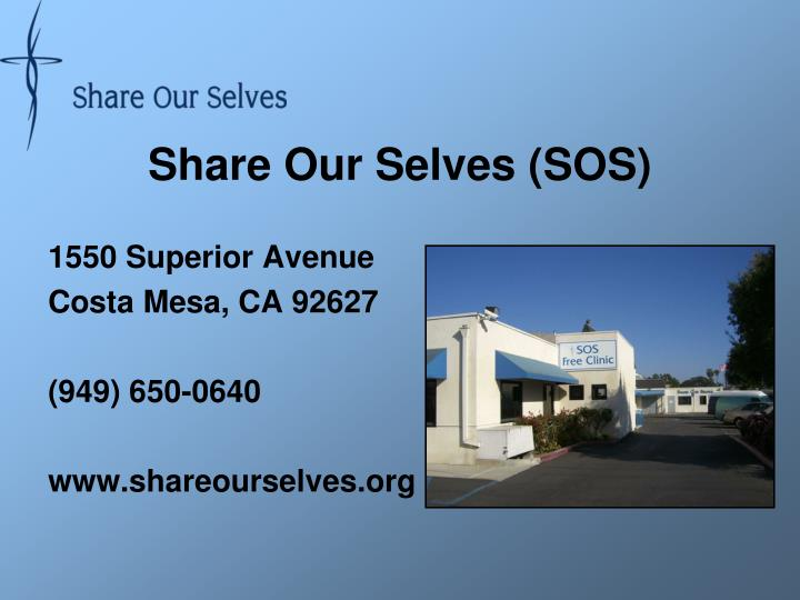 Share our selves sos