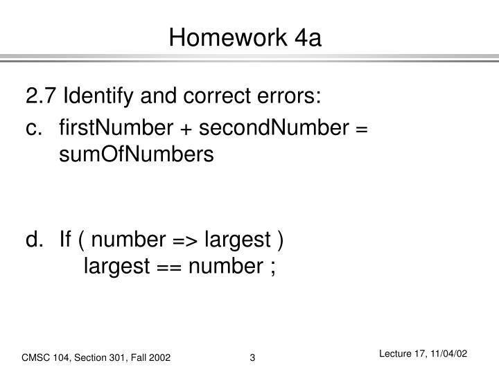 Homework 4a1