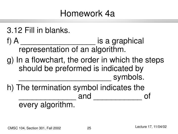 Homework 4a
