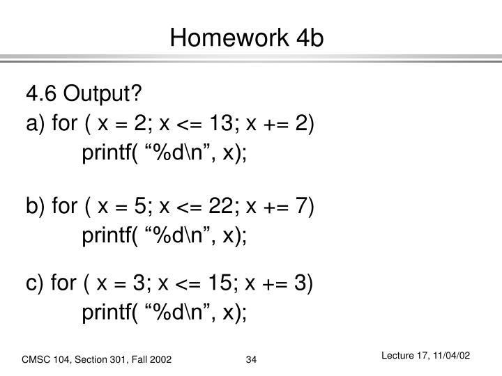 Homework 4b
