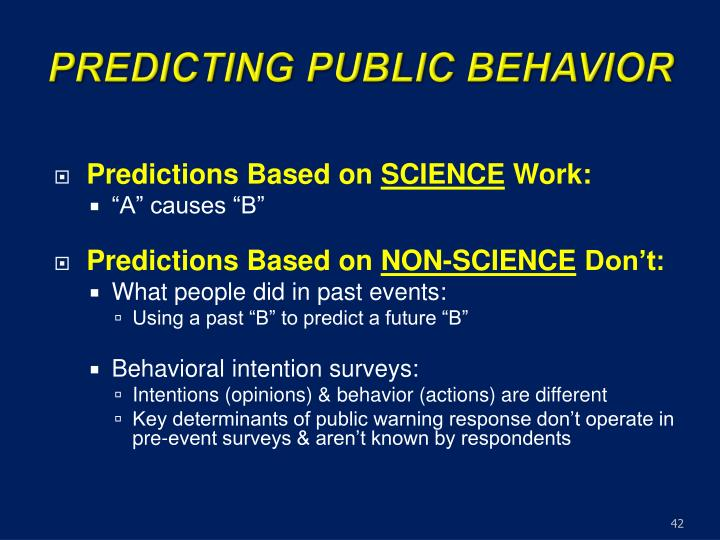 PREDICTING PUBLIC BEHAVIOR