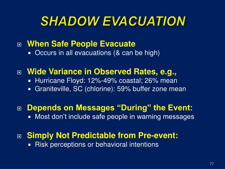 SHADOW EVACUATION