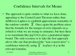 confidence intervals for means1
