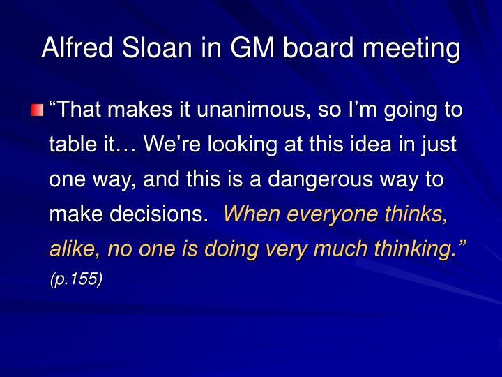 Alfred Sloan in GM board meeting