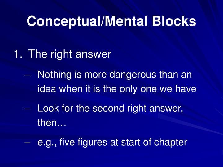 Conceptual mental blocks