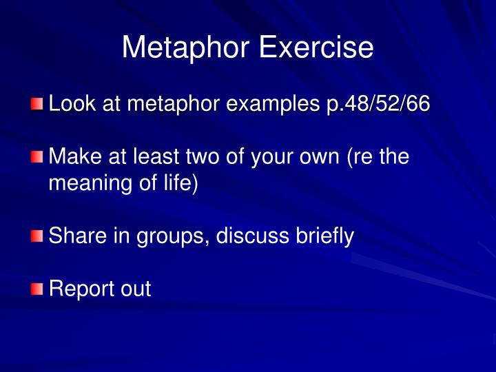 Metaphor Exercise