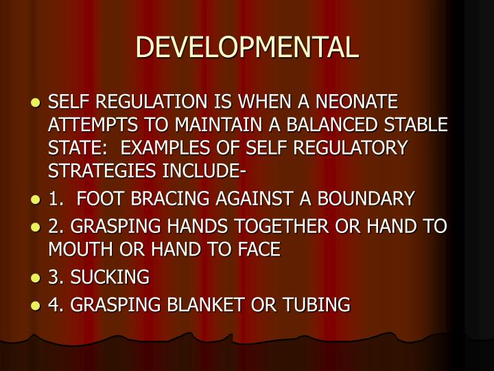 DEVELOPMENTAL