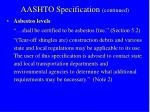 aashto specification continued2