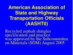 american association of state and highway transportation officials aasht0