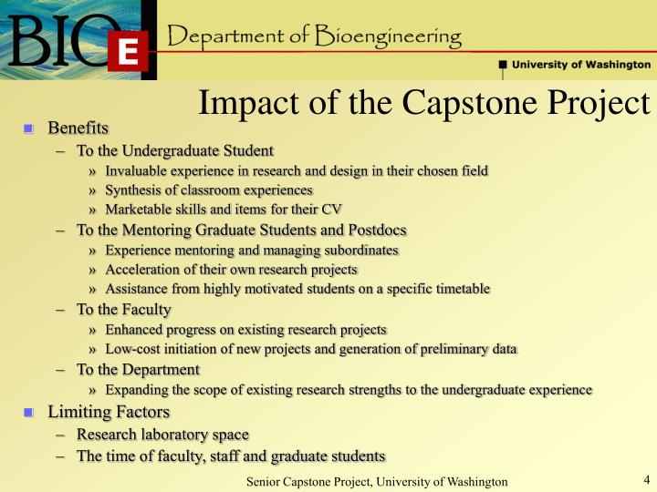 Impact of the Capstone Project