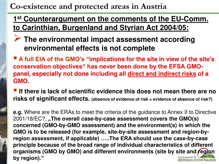 Co-existence and protected areas in Austria