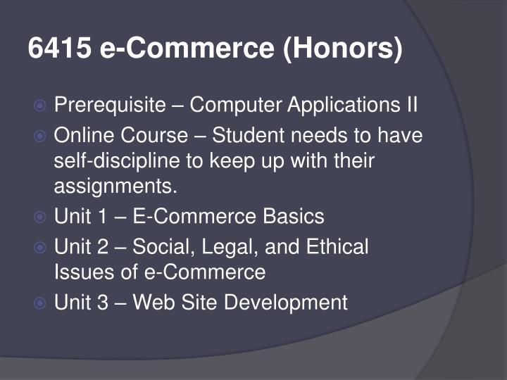 6415 e-Commerce (Honors)
