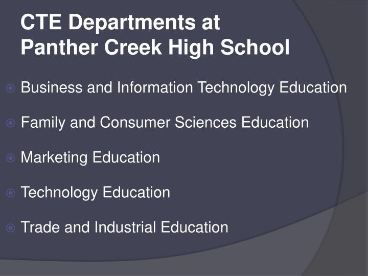 Cte departments at panther creek high school